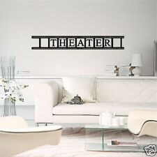 Wall  Decal THEATER FILM STRIP  6 X 40! Vinyl Movie Room Decor