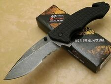 MTech Extreme G-10 Handle Stonewashed Blade Spring Assisted Knife