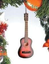 "Miniature 5"" Classic String Guitar Dark Brown guard Hanging Tree Ornament OG12BR"