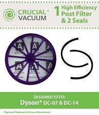 1 Dyson DC07 & DC14 Post Motor Filter & 2 Seals, Part # 901420-02