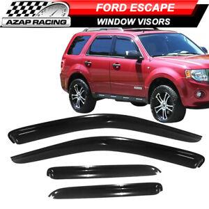 Fits 01-12 Ford Escape Sedan Slim Style Acrylic Window Visors 4Pc Set