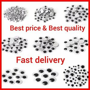 Googly Eyes SELF ADHESIVE New Google Sticker's Craft Embellishment's Mixed Sizes
