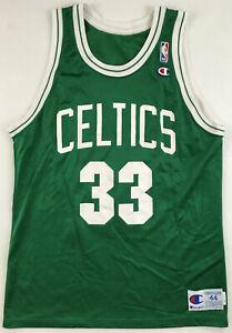 Boston Celtics 33 Larry Bird jersey NBA Champion 1990s vintage nylon green 44