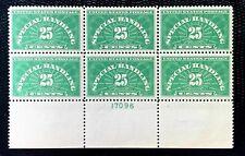 1925 US Special Handling Stamps SC #QE4 Plate Block 6 MNH/OG CV:$360