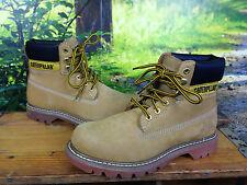 Caterpillar CAT UK 7 UE 40 onorevoli naturale Colorado Nabuk Leather Boot Rrp £ 110