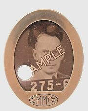 WWII 1940's CMM CO Cincinnati Ohio employee badge pinback Home Front +