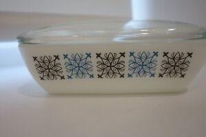 Vintage Pyrex - CHELSEA - Retro Glass Butter Dish & Lid