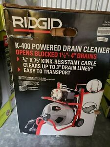 "RIDGID 52363 K400 T3 Drain Cleaning Machine Drain Line Size 1-1/2"" - 4"" 100ft"