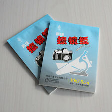 2X 50 Sheets Soft Camera Lens Optics Tissue Cleaning Paper Wipes Booklet FTAU