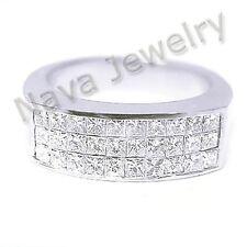 1.80 Ct. Mens Diamond Wedding Ring Invisible Set
