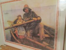 """Art """"The Helping Hand"""" by Emile Renouf 1988 Donald Art Litho in Original Plastic"""