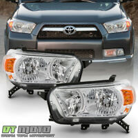 For 2010-2013 Toyota 4Runner Chrome Headlights Headlamps Replacement Left+Right