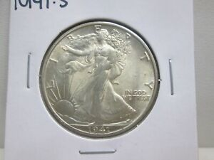 1941-S US WALKING LIBERTY HALF DOLLAR- UNC