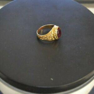Vintage 14k Gold Ruby Ring Size 9 SCRAP