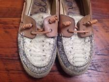 Sam Edelman Faux Snake Skin Vegan Comfort Boat Beach Shoes Moccassins 9M 39.5