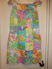 LILLY PULITZER Garden Patch Floral Cotton Sleeveless Lined Dress Size 4