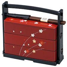Genuine Traditional Japanese lunch bento box 3 Stage with Chopsticks HAKOYA