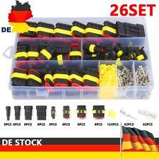 352x KFZ Stecker Steckverbindung Steckverbinder 1-4 Polig Auto Wasserdicht Kabel