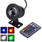 10W RGB 12V LED Underwater Pond Pool Light Waterproof IP68 Lamp Bulb + IR Remote