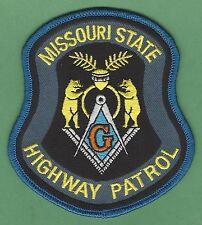 MISSOURI STATE HIGHWAY PATROL POLICE MASONIC LODGE PATCH