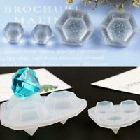 1Pcs Diamond Shaped Silicone Mold DIY Handmade For Jewelry Soap Mould White O0F3