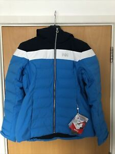 Helly Hansen Blue Imperial Puffy Ski Jacket Womens Snowboarding Size Small
