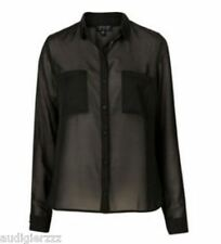Authentic TOPSHOP  Black Sheer Blouse US 2 UK 6 nwt