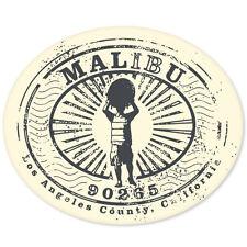 "Los Angeles County MALIBU Travel Stamp sticker 5"" x 4"""
