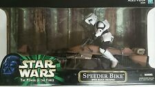 Hasbro 2000 Star Wars The Power of the Force Speeder Bike w/Scout Trooper 12in