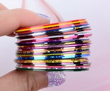 Mixed Colors Rolls Striping 30Pcs Tape Line DIY Nail Art Tips Decoration Sticker