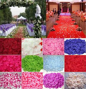 1000~2000pcs Wedding Silk Rose Petals Bridal Flowergirl Basket Fake Flower Decor
