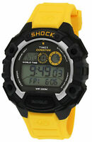 New TIMEX T49974 Expedition Global Shock Men's Digital Watch Yellow Resin Strap