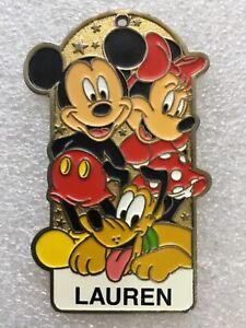 Disneyland Resort Enamel Metal Souvineer Badge Mickey, Minnie & Pluto - Lauren