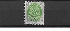 1875 USED Denmark Mi 29 I Y B perf 12 3/4