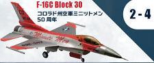 F-Toys 605624-2-4 Düsenflugzeug F-16 Block 30 USAF Colorado Minute Men 1/144