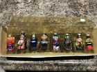 DEPARTMENT 56 Mini Blown Glass Ghouls Halloween Ornaments Set of 8 Monsters NEW