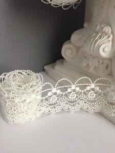 Lace trim Guipure,Vintage pattern,Light Ivory colour 5 cm/1.96inch HIGH QUALITY!
