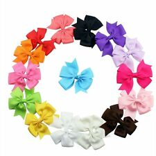 "Ribbon Bows- Diy Sewing 2.7"" - Hair Accessories Assorted Colors 30 Pcs 15 pairs"