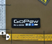 "Ricamata / Embroidered Patch ""Go Pew"" with VELCRO® brand hook"
