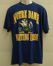 Notre Dame VTG 80s EXTRA LARGE T-shirt Fightin' Irish navy blue True Vintage