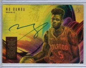 MO BAMBA 2018-19 Court Kings Fresh Paint ROOKIE AUTO #/199 Orlando Magic RC