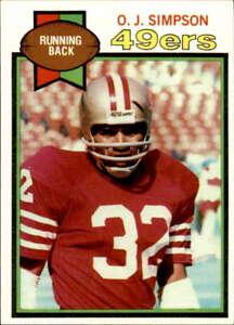 1979 Topps #170 O.J. Simpson NM San Francisco 49ers Football Card