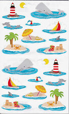 Mrs. Grossman's Giant Stickers - On the Water Fun - Lighthouse - Rfl - 2 Strips