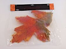 2 Large Oak 14 Inch Faux Leaves Crafts Fall Table AUTUMN HALLOWEEN DECORATION