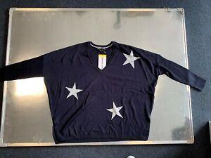 DKNY Jeans Drop Shoulder Star Print Over-Size Jumper