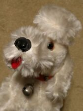 VINTAGE 1940's or 1950's STUFFED White POODLE Antiques Roadshow St. Louis Orange