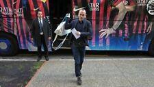 Andres Iniesta FC Barcelona Barca Worn Team Travel Shirt - Game Match Used - COA