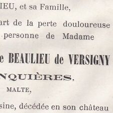 Aglaé Louise Léonore L'Hoste De Beaulieu De Versigny De Junquieres 1873