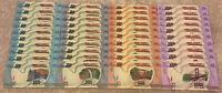 Madagascar Banknote Wholesale Lot. 40 X Banknotes. 100, 200, 500, 1000 Ariary.