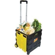 Folding Shopping Cart 35KGS Storage Lightweight Foldable Box Wheel Carte Trolley